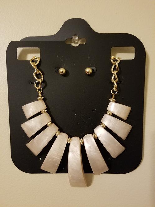 IAmShe Fashion Bone Necklace W/ Earrings