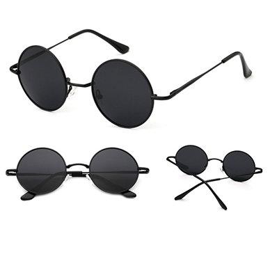 IAmShe Unisex Round Wire Frame Sunglasses