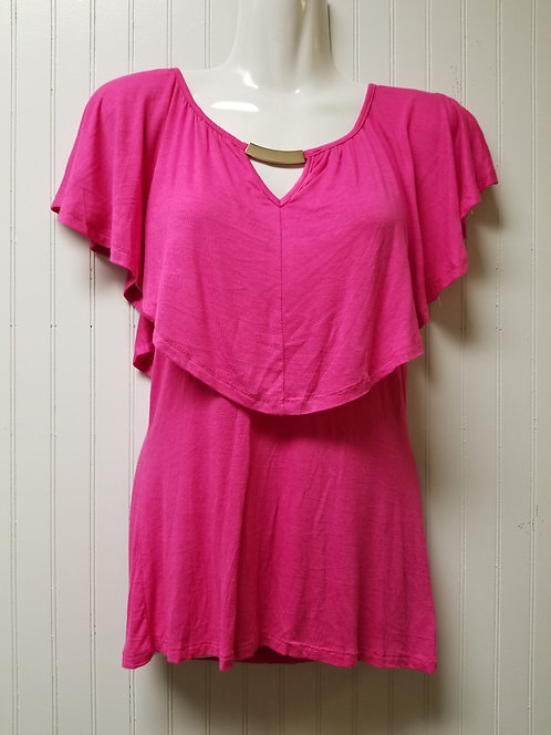 IAmShe Tiered Top Blouse L