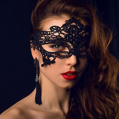 IAmShe Black Lace Half Mask