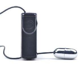 IAmShe Black Silver Vibrating Bullet