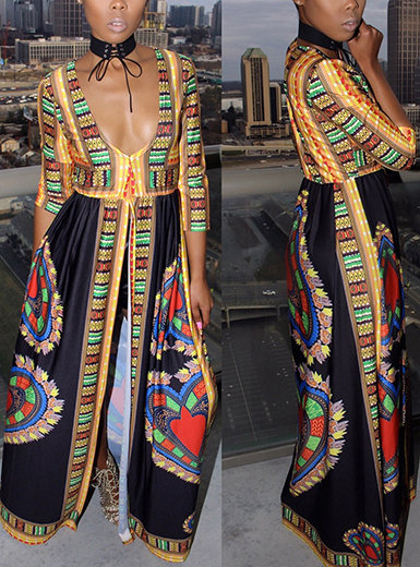 IAmShe African Theme Printed Dress