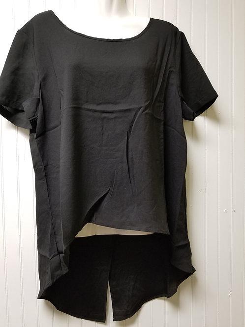 IAmShe Short Sleeve Split Blouse 1X