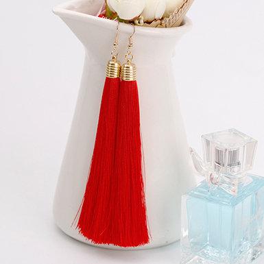 IAmShe Retro Colored Tassel Style Earrings