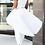 Thumbnail: IAmShe Round Neck Sleeveless Asymmetrical White Cotton Blends Top