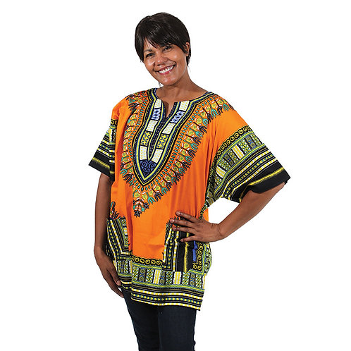 IAmShe Traditional Dashiki Orange