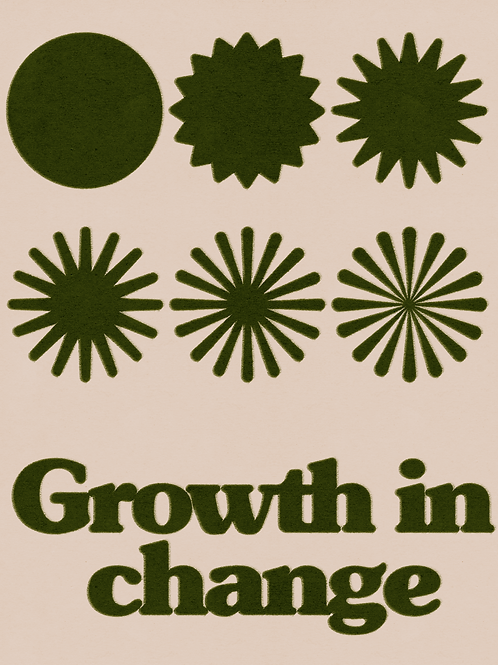 Growth in Change Poster