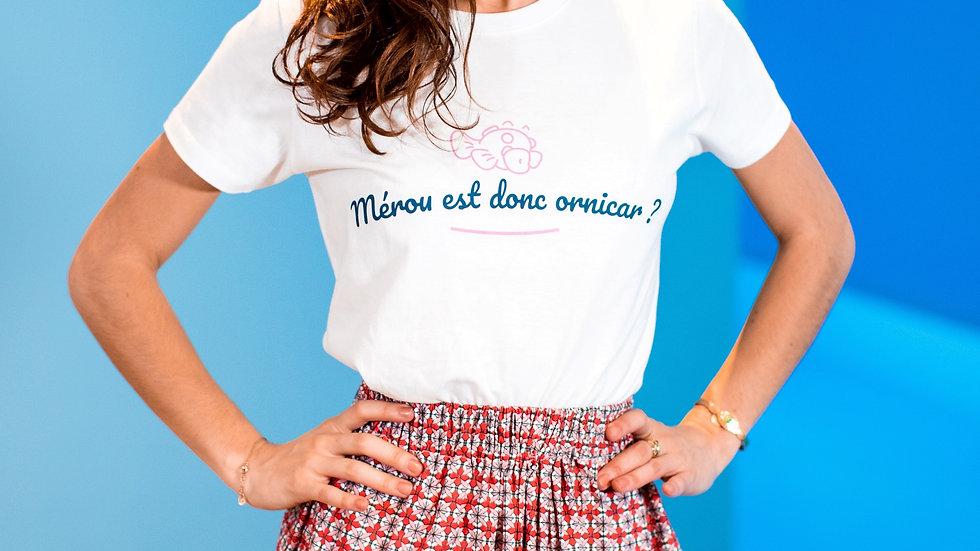 """T-shirt """"Mérou est donc ornicar ?"""" - Rose et Bleu"""