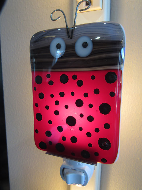 LadyBug Love Glass Nightlight