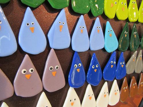 Glass Bird Magnets