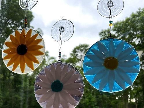 Summer Blossom Glass Suncatcher