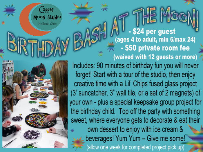 Birthday Parties For Kids Fused Glass Fun And Dessert Decorating Activities