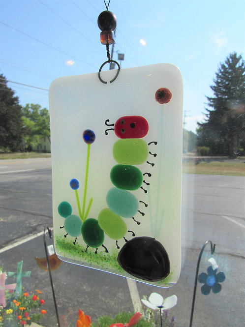 Hungry Caterpillar Glass Suncatcher