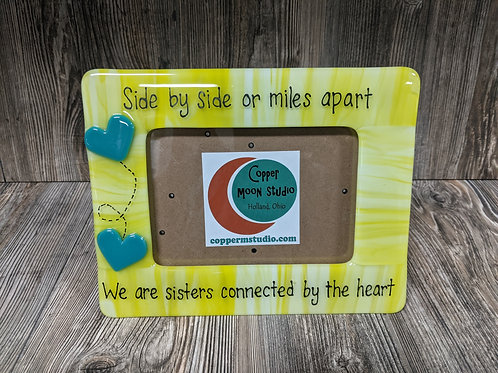 """""""We Are Sisters"""" Glass Picture Frame (5x7)"""
