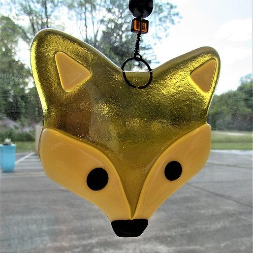 Such a Fox! Glass Suncatcher
