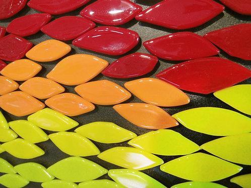 Glass Leaf Magnets