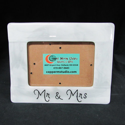 """Mr. & Mrs."" Wedding or Anniversary Glass Picture Frame (5x7)"