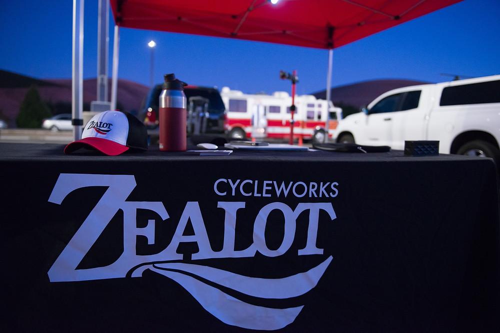 Zealot Cycleworks bike mechanics station at C4V Event 2017