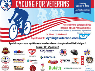 We're a proud sponsor of the Cycling 4 Veterans Event, featuring epic rides of 30 miles, 55 mile
