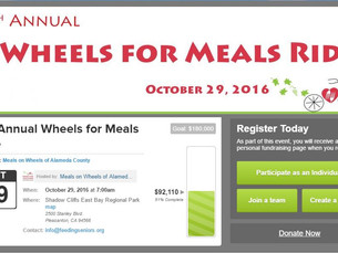 We couldn't help ourselves ... but to contribute mechanical support for the Wheels For Meals Rid