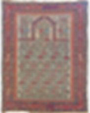 Shirvan Prayer Rug, 4-0 x 5-1, Ca 1850.p