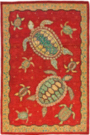 """A Sea Turtle Rug in size 4'1"""" x 6'2"""""""