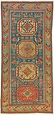 antique Akstafa Caucasian rug 4x8