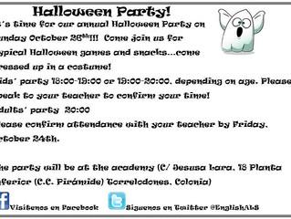 October Halloween Party