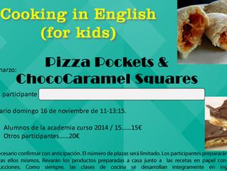 November 2014 Cooking Class: Pizza Pockets & ChocoCaramel Squares