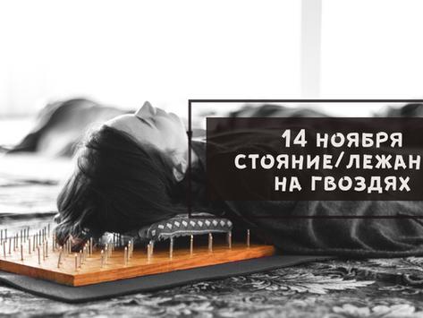 14 ноября, стояние/лежание на гвоздях