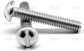SLOTTED ROUND HEAD MACHINE SCREWS STAINL
