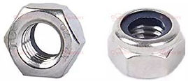 HEXAGON LOCK NUTS WITH PLASTIC INSERT ST