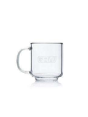 GRAV Glass Coffee Cup