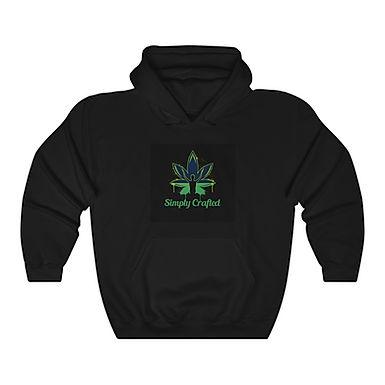Black & Green Logo Unisex Heavy Blend™ Hooded Sweatshirt