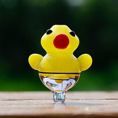 Glass Yellow Duck Carb Cap