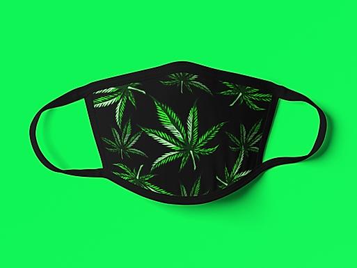 Face Cover - Cannabis Leafs