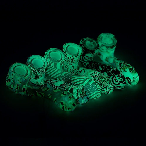 Glow-In-The-Dark Silicone Covered Glass Pipe