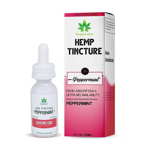 3000mg Tincture - Peppermint Blend