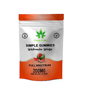 CBD Gummy Watermelon Wedges