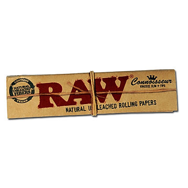 RAW Rolling Papers - Connoisseur King Size Slim + Tips (2 Pack)