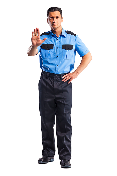 Рубашка охранника, с коротким рукавом