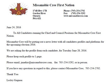 Letter to Candidates of the 2016 Election