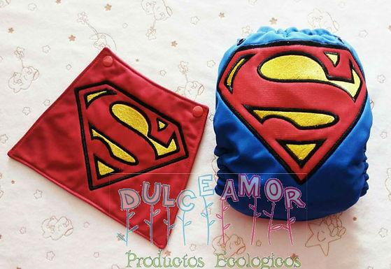 Pañal TE3 superman con capa