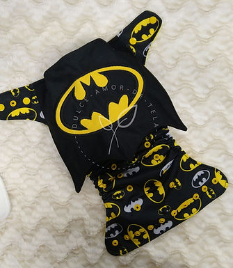 Pañal bordado Batman