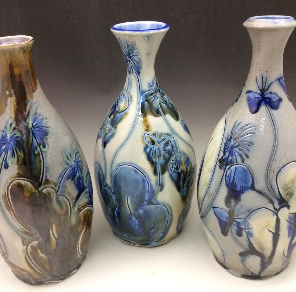 Salt-fired Vases