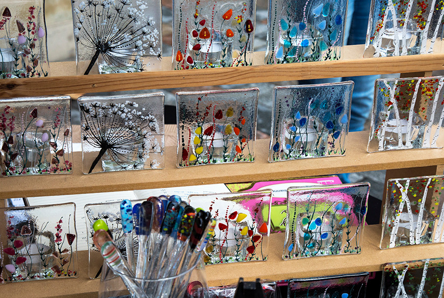Some of Helen Southwell glass designs.