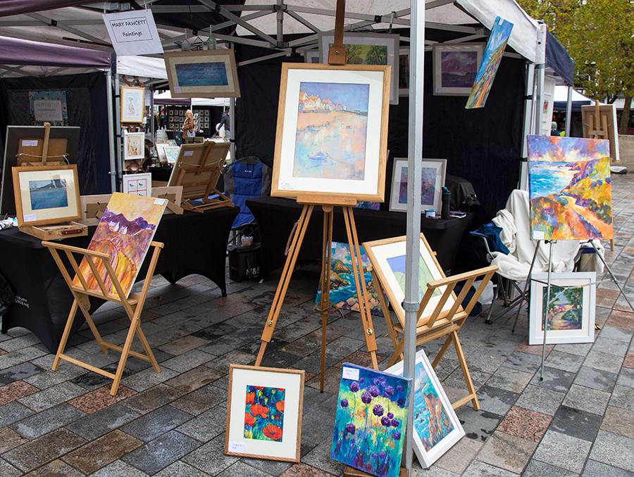 Mary Fawcetts first display in the Market Place