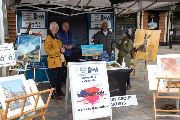 Salisbury Group of Artists… members enjoying the day!