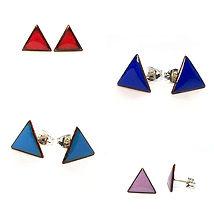 6.Enamel-triangle-stud-earrings-blue-tea
