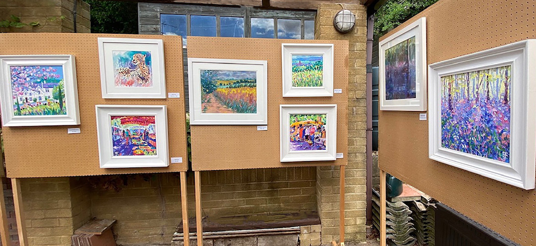 Fiona Forbes… perfect carport gallery display!